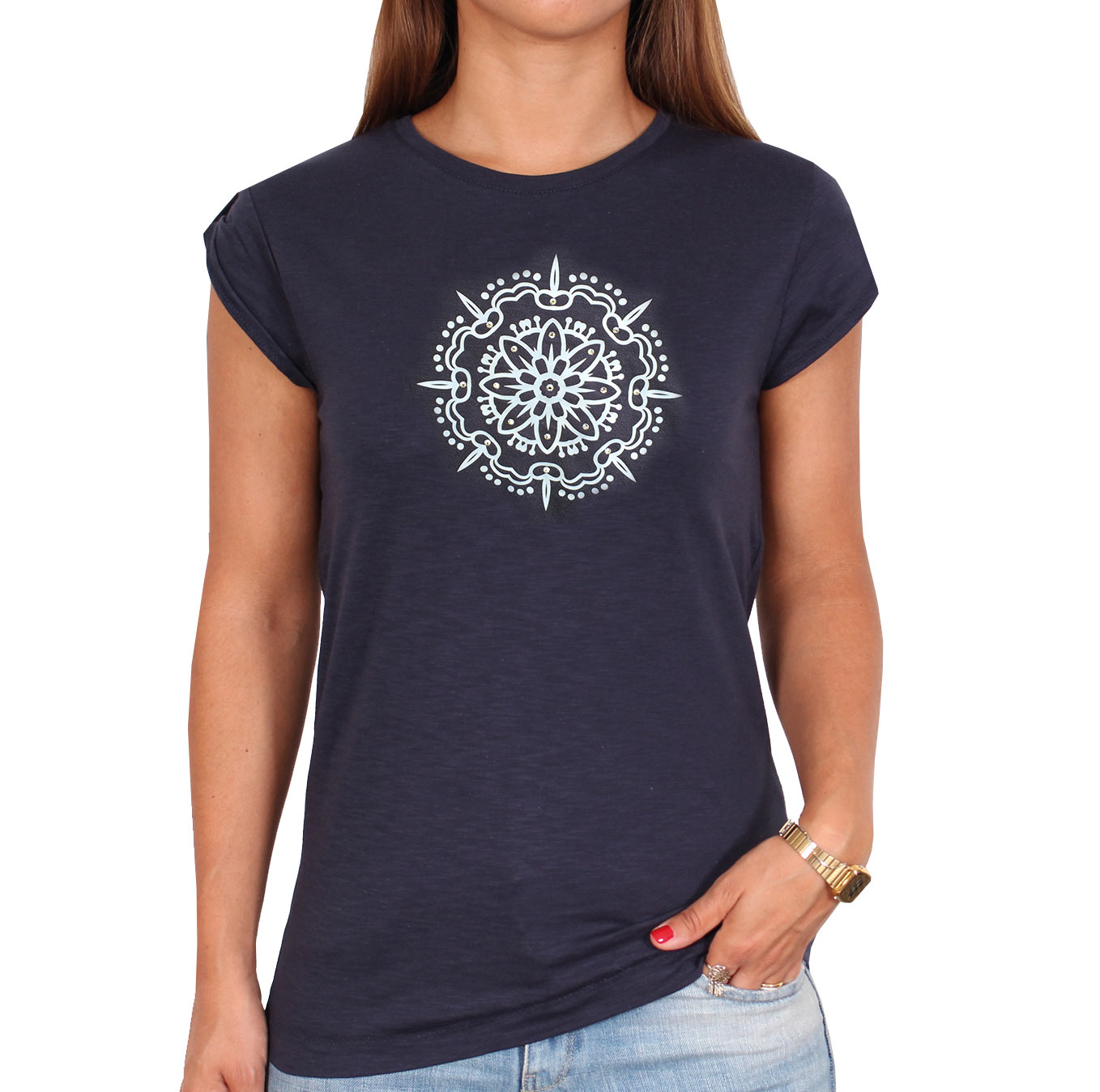 Shirtlion_too_chic_Mandala1_silber